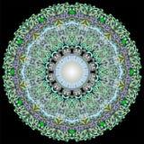 Ornement Yogyakarta de batik de cercle photos stock