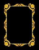 Ornementez les éléments, conceptions florales de cadre d'or de vintage Images libres de droits