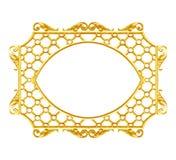 Ornementez les éléments, conceptions florales de cadre d'or de vintage Image libre de droits