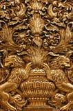 Ornements baroques d'or de la cathédrale de Malte photographie stock libre de droits