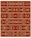 Ornements celtiques traditionnels floraux de noeud Photographie stock