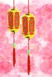 Ornements chinois d'an neuf - lanternes de prospérité Photographie stock