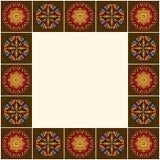 Ornements décoratifs d'Africain de frontière Photo stock