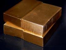 Ornements décoratifs d'or des lingots d'or Photo libre de droits