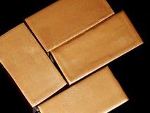 Ornements décoratifs d'or des lingots d'or Photographie stock libre de droits