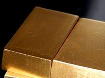 Ornements décoratifs d'or des lingots d'or Image libre de droits