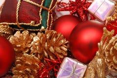Ornements décoratifs de Noël Image libre de droits