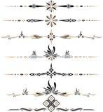 Ornements décoratifs eps10 de couleur de vecteur images stock