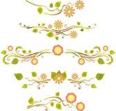 Ornement décoratif floral de ressort Images stock
