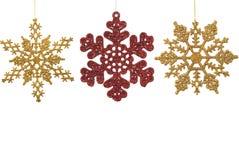 Ornements d'éclaille de neige Image libre de droits