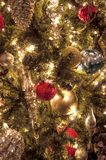 Ornements d'arbre de Noël Photo libre de droits