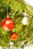 Ornements d'arbre de Noël photos libres de droits