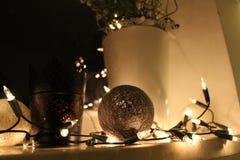 Ornements d'arbre de Noël Photo stock