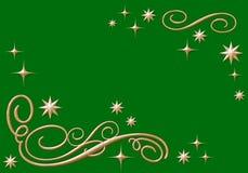 Ornements d'or avec des étoiles Images stock