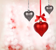 Ornements de coeur de Valentine Photographie stock libre de droits