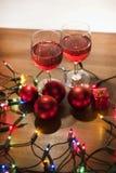 Ornements de décoration de Noël Photographie stock libre de droits