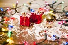 Ornements de décoration de Noël Photos libres de droits