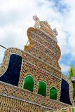 Ornements de festival de palmettes de tamilnadu, Inde images stock