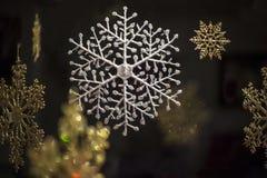 Ornements de flocon de neige Photographie stock libre de droits