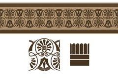 Ornements de frontière du grec ancien, illustration de vecteur