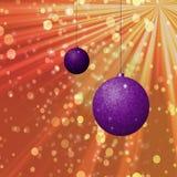 Ornements de Noël avec le scintillement Photo libre de droits