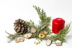Ornements de Noël billes Jouets Le père noël ; Bougies ; Cadeaux ; Photo stock