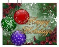 ornements de Noël de carte de fond Photos stock
