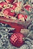 Ornements de Noël de vintage Photos stock