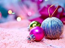Ornements de Noël et décoration de billes Images libres de droits