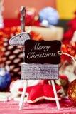 Ornements de Noël et Noël des textes Joyeux Photo libre de droits