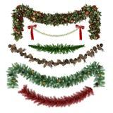 Ornements de Noël, modèles, guirlandes, jouets réglés Photos libres de droits