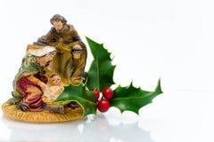 Ornements de Noël - ornement de famille de houx image stock