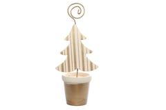 Ornements de Noël sur le blanc d'isolement Image stock