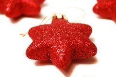 Ornements en forme d'étoile de Noël. Image libre de droits