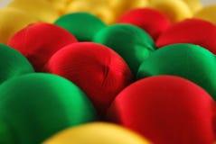 Ornements en soie colorés Images stock