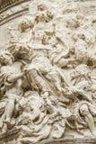Ornements et sculptures de style gothique, art antique espagnol Photo libre de droits