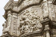 Ornements et sculptures de style gothique, art antique espagnol Photos stock
