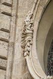 Ornements et sculptures de style gothique, art antique espagnol Photographie stock