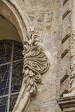 Ornements et sculptures de style gothique, art antique espagnol Image libre de droits