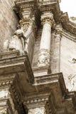 Ornements et sculptures de style gothique, art antique espagnol Image stock