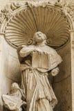 Ornements et sculptures de style gothique, art antique espagnol Photo stock