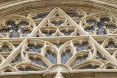 Ornements et sculptures de style gothique, art antique espagnol Photographie stock libre de droits