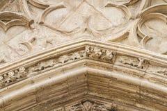 Ornements et sculptures de style gothique, art antique espagnol Photos libres de droits