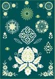 ornements floraux d'éléments illustration de vecteur