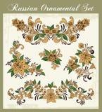 Ornements floraux dans le type russe Photo libre de droits