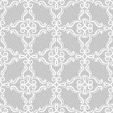 Ornements floraux de cru Modèles sans couture gris pour le tissu et le papier peint Images stock