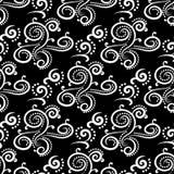 Ornements floraux de cru Modèles sans couture noirs et blancs pour le tissu et le papier peint illustration de vecteur
