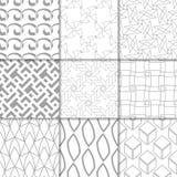Ornements géométriques gris-clair Ramassage de configurations sans joint Photo stock