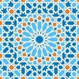 Ornements géométriques islamiques basés sur l'art arabe traditionnel Configuration sans joint orientale Mosaïque musulmane Décora illustration stock