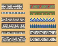 Ornements linéaires sans joint chinois Image stock